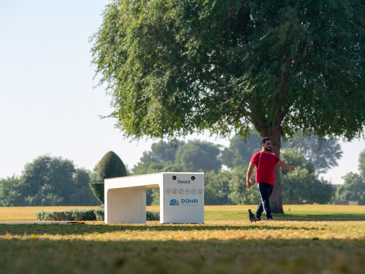 Doha Technology first to introduce smart benches in GCC region at Aspire Park